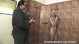 Horny Blonde StepDaughter Fucks Wet Dad And Lover. Ha - 10:35
