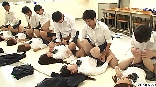 Splendid schoolgirl fucked by teacher and instructor - 5:25