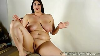 Chubby brunette pornstar amazing bigtits ride - 10:06