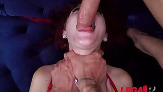 EXTREMELY HORNY Teen Lola Fae first Double Penetration