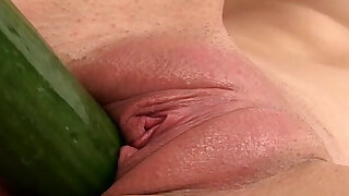 Juicy cherry babe plays with food items - 8:00