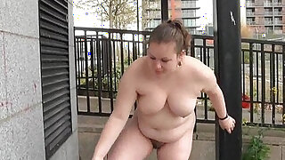 Fat Charlie nude in public and exhibitionism