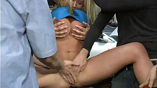 Filthy Whore Gangbanged in a Garage - 7:00