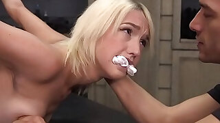 Flexible blonde gets her huge mamba black dick in bondage - 5:00