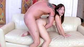 Alison Rey fuck by her step dad sideways drilling her pussy - 6:00