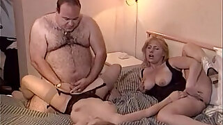 Lucky old fat man fucks two chicks - 23:00