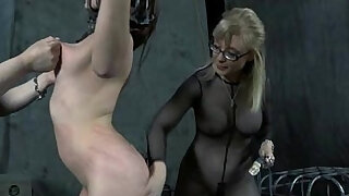 Old BDSM Masters Whipping of Chained Slave - 6:00