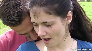 Brunette teen outdoors fucked in clear growthi - 7:13