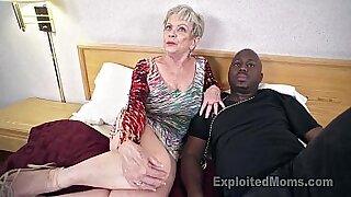 Mature grandma sucks huge black man cock - 6:03